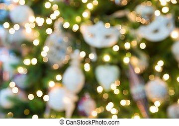 weihnachten, hintergrund, mit, fokus, lichter