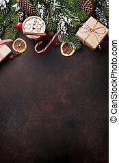 weihnachten, hintergrund, mit, heiße schokolade, und, eibisch