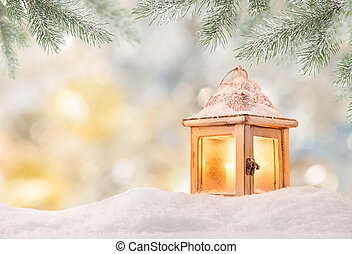 weihnachten, hintergrund, mit, laterne