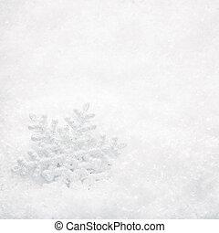 weihnachten, hintergrund., schneeflocke, auf, schnee