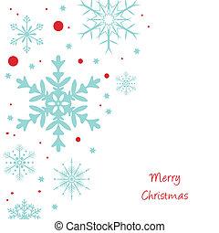 weihnachten, hintergrund, schneeflocken