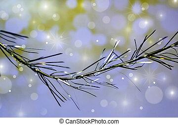 weihnachten, hintergrund, von, tinsel.