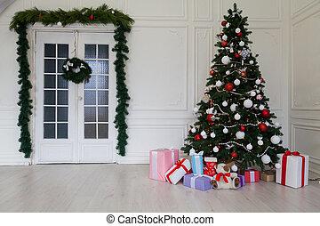 Weihnachtsdeko Geschenke.Geschenke Girlande Kerzen Baum Geschenke Lichter Innen