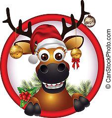 weihnachten, hirsch