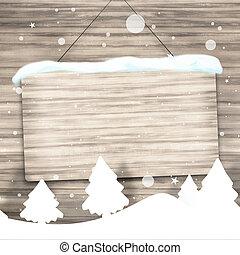 weihnachten, holz, hintergrund, zeichen, kreativ, grafik