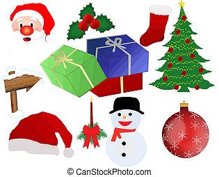 weihnachten, ikone, satz