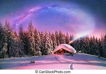 weihnachten, in, der, carpathians