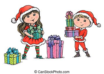 weihnachten, kinder