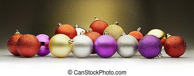 weihnachten, kugeln, stardust