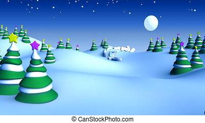 weihnachten, landschaftsbild, 05