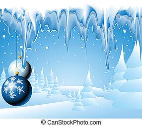 weihnachten, landschaftsbild