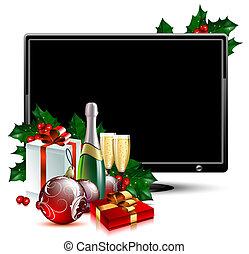 weihnachten, lcd, tafel