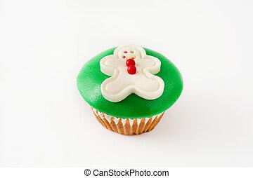 weihnachten, lebkuchen mann, cupcake