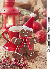 weihnachten, lebkuchen mann