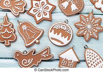 weihnachten, lebkuchen- plätzchen