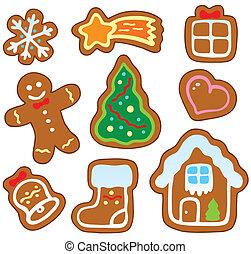 weihnachten, lebkuchen, sammlung, 1