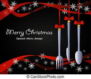weihnachten, menükarte, besondere