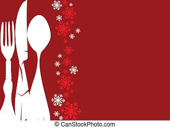 weihnachten, menükarte
