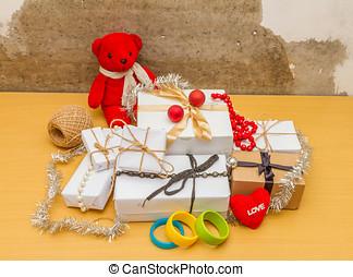 weihnachten, mit, gifts.
