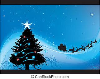 weihnachten, nacht, hintergrund