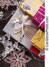 weihnachten neues jahr, geschenkschachtel