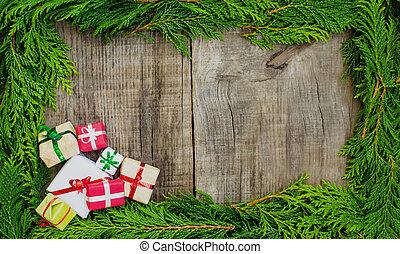 weihnachten, rahmen, begriff