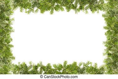 weihnachten, rahmen, freigestellt, auf, whi