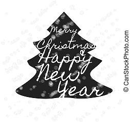 weihnachten, retro, banner