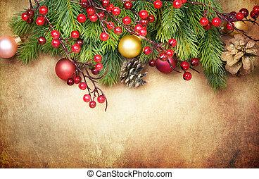 weihnachten, retro, karte