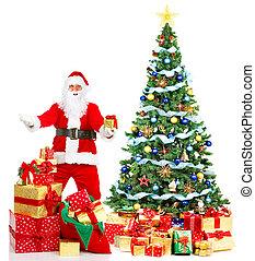 weihnachten, santa