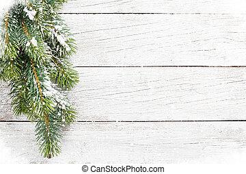 weihnachten, schnee, tanne