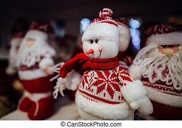 weihnachten, schneemann, spielzeug