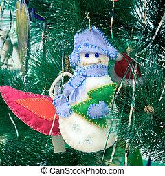weihnachten, spielzeug, schneemann