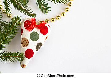 weihnachten, spielzeug, und, tanne