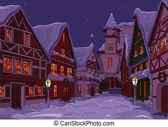weihnachten, stadt