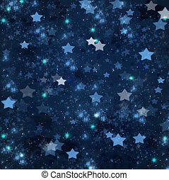 weihnachten, sternen, auf, blauer hintergrund