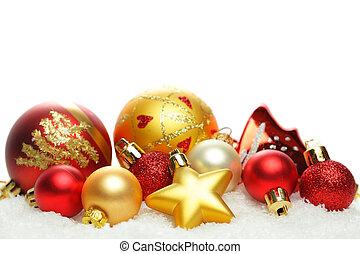weihnachten, umrandungen, freigestellt, weiß, hintergrund