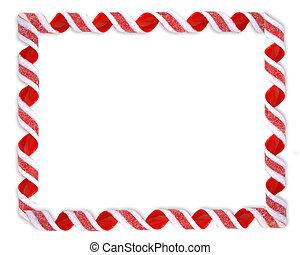 weihnachten, umrandungen, geschenkband, zuckerl