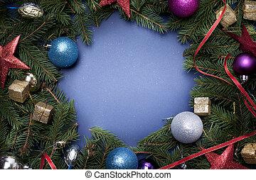 weihnachten, umrandungen, mit, frei, raum, für, text