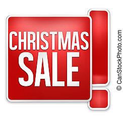 weihnachten, verkauf, rotes , ikone, design