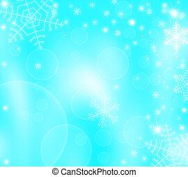 weihnachten, winter, hintergrund, mit, schneeflocken