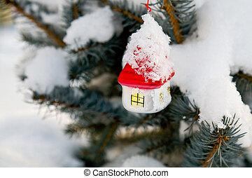 weihnachts-baum, dekoration