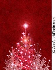 weihnachtsbäume, rotes