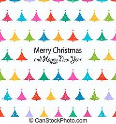 weihnachtsbäume, seamless, muster