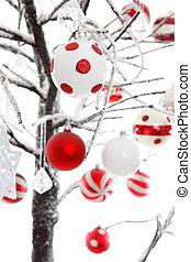 weihnachtsbaubles, verzierungen, dekoration