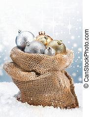 weihnachtsbaubles, winter