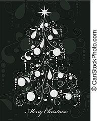 weihnachtsbaum, abstrakt