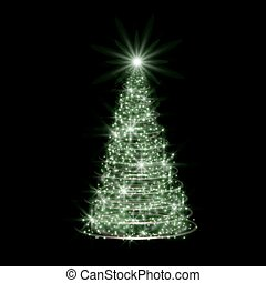 Weihnachtsbaum Explodiert.Schwarz Baum Weihnachten Hintergrund Silber Vektor Illustration