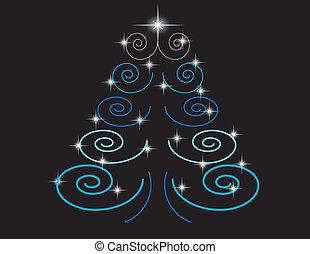 Schwarz baum weihnachten hintergrund silber - Schwarzer weihnachtsbaum ...