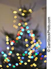 weihnachtsbaum, bokeh